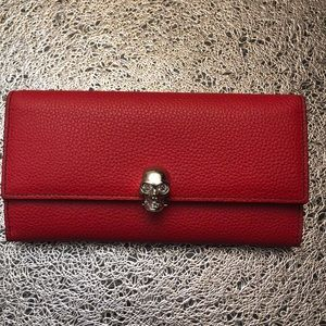 Alexander McQueen Red Continental Wallet